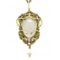Opale collana con pendente...